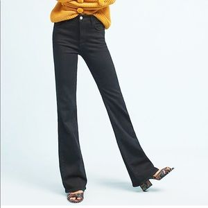 NWT ANTHROPOLOGIE High Rise Bootcut Black Jeans